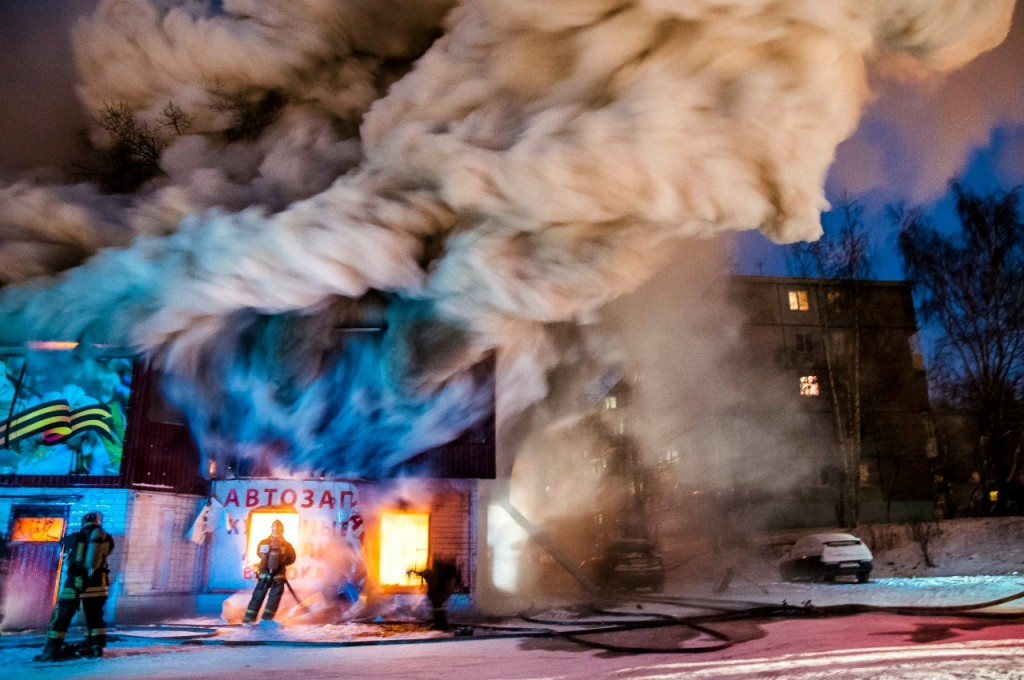 04.01.2016 Пожар на Лакина (Апельсин) во Владимире 07