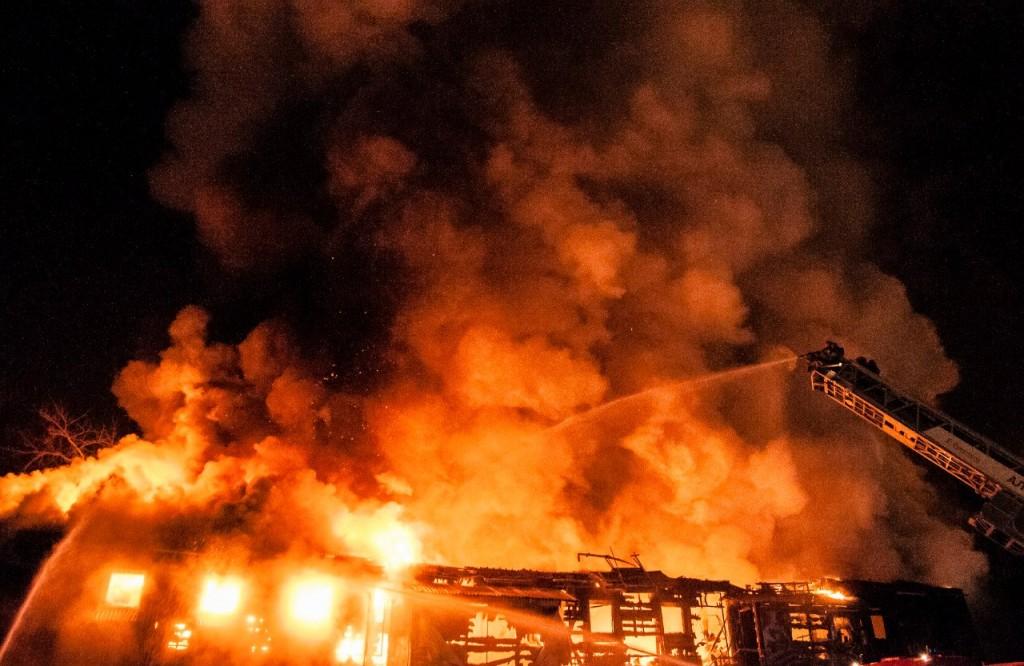 04.01.2016 Пожар на Лакина (Апельсин) во Владимире 17