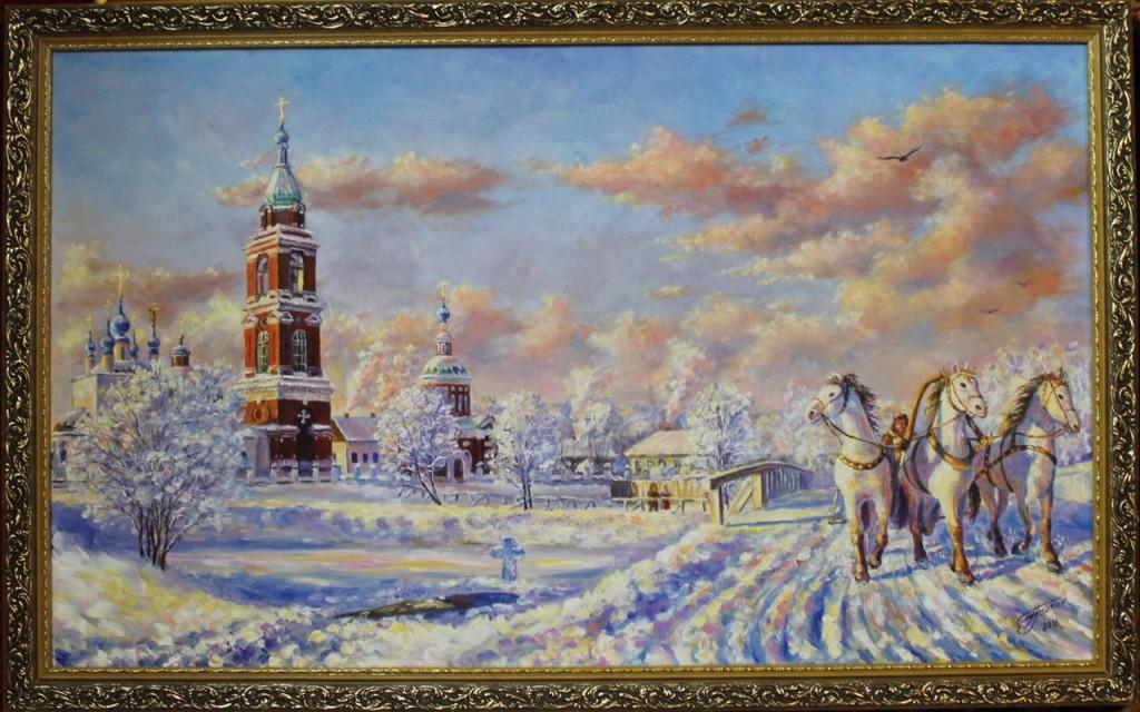 Зима-зимушка пришла коней в сани запрягла