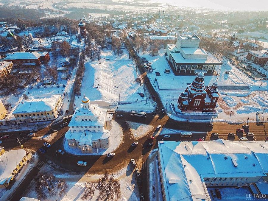 Зима и солнце во Владимире!