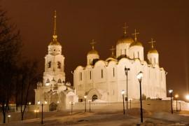 Зимний вечер у Успенского собора