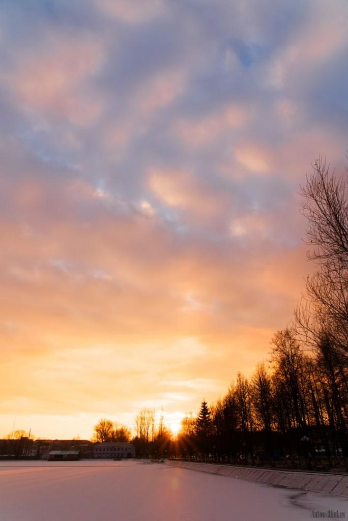 Зимний закат во Владимирской области 01
