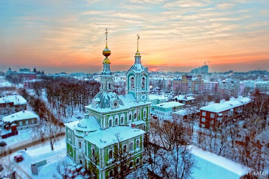Никитская церковь с высоты (Владимир) от проекта Le Talo