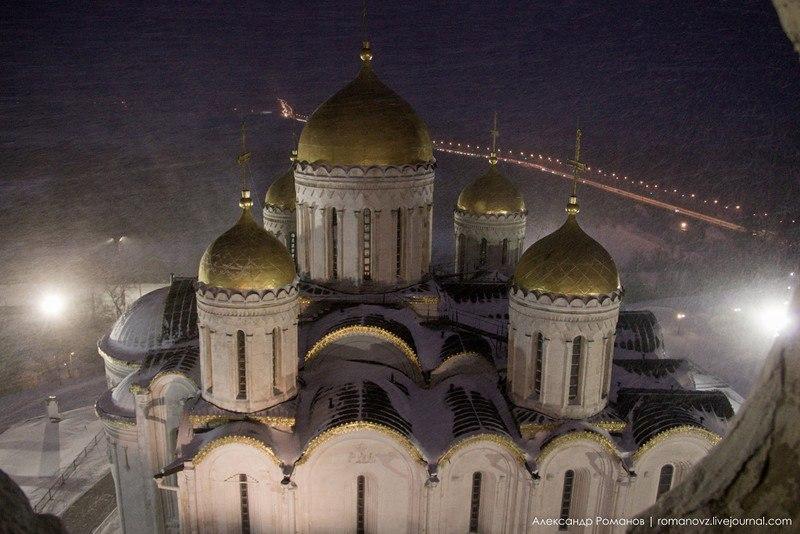Один из самых лучших видов на центр Владимира, – с Успенской колокольни 01