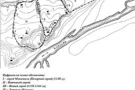 План «домонгольского» города Владимира