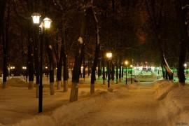 Прогулка по зимнему Владимирскому парку в выходные