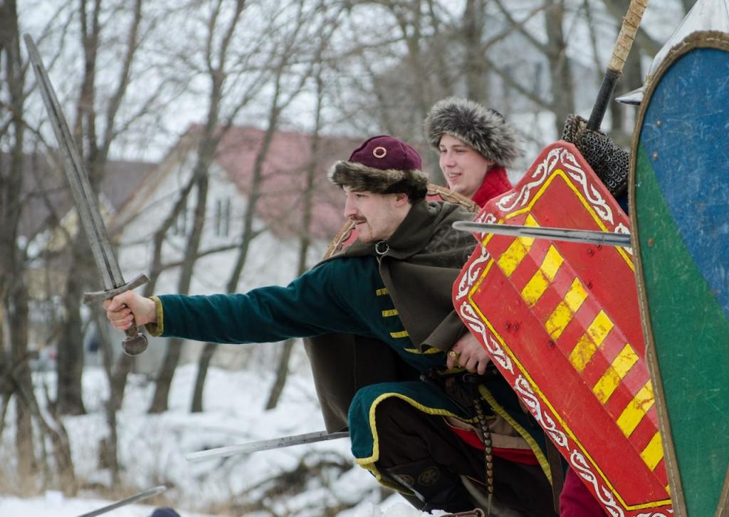 Реконструкция битвы татаро-монголов с русичами в Боголюбово 03