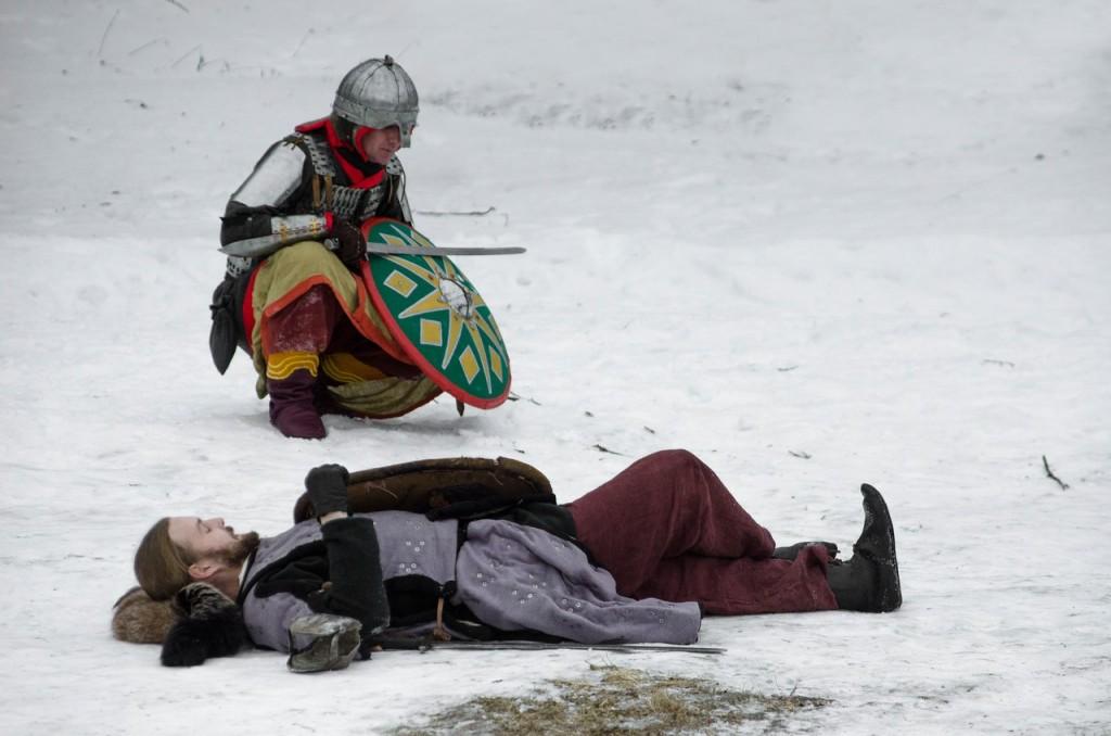 Реконструкция битвы татаро-монголов с русичами в Боголюбово 06
