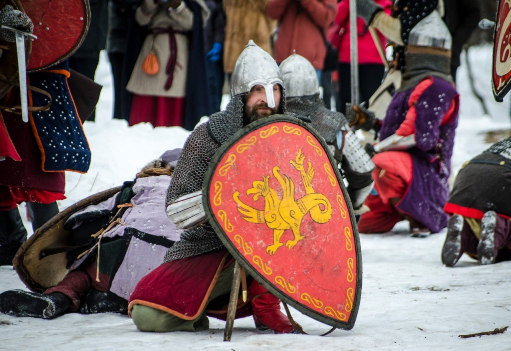 Реконструкция битвы татаро-монголов с русичами в Боголюбово 07