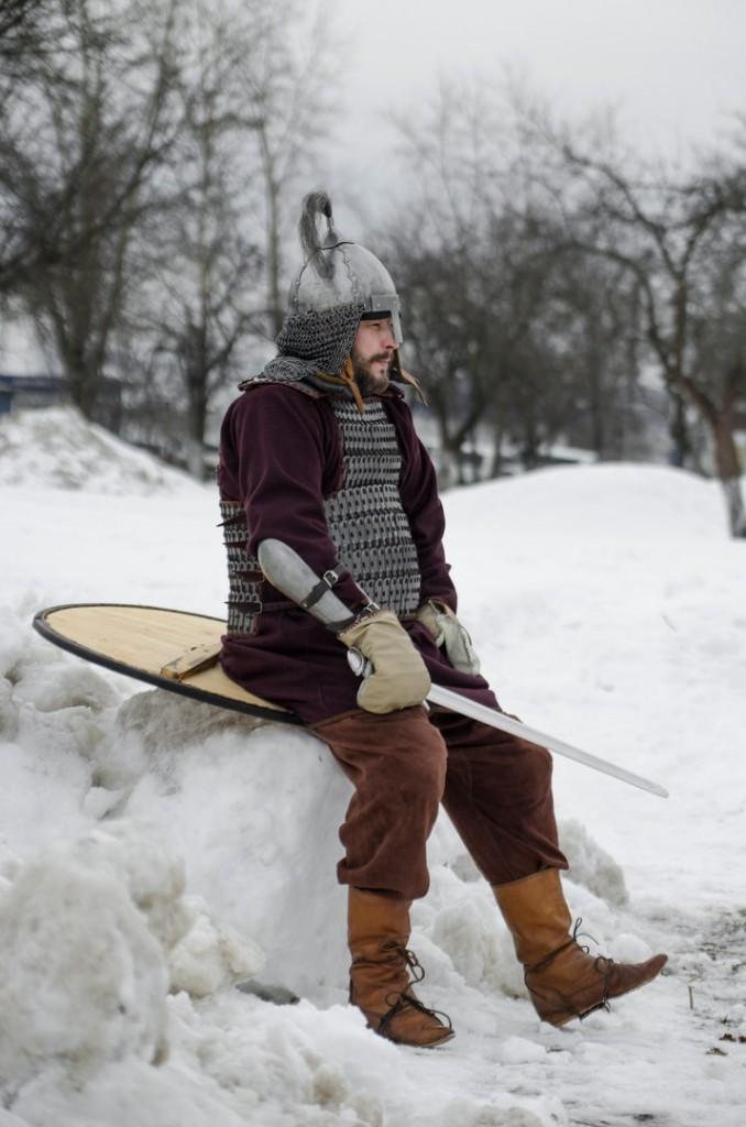 Реконструкция битвы татаро-монголов с русичами в Боголюбово 08