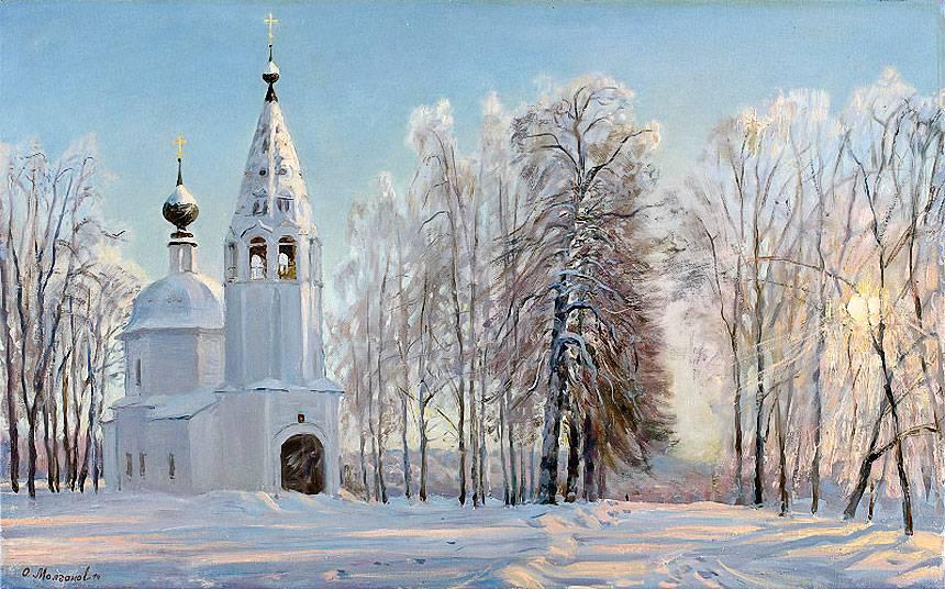 Русская зима в работах художника Олега Молчанова 04