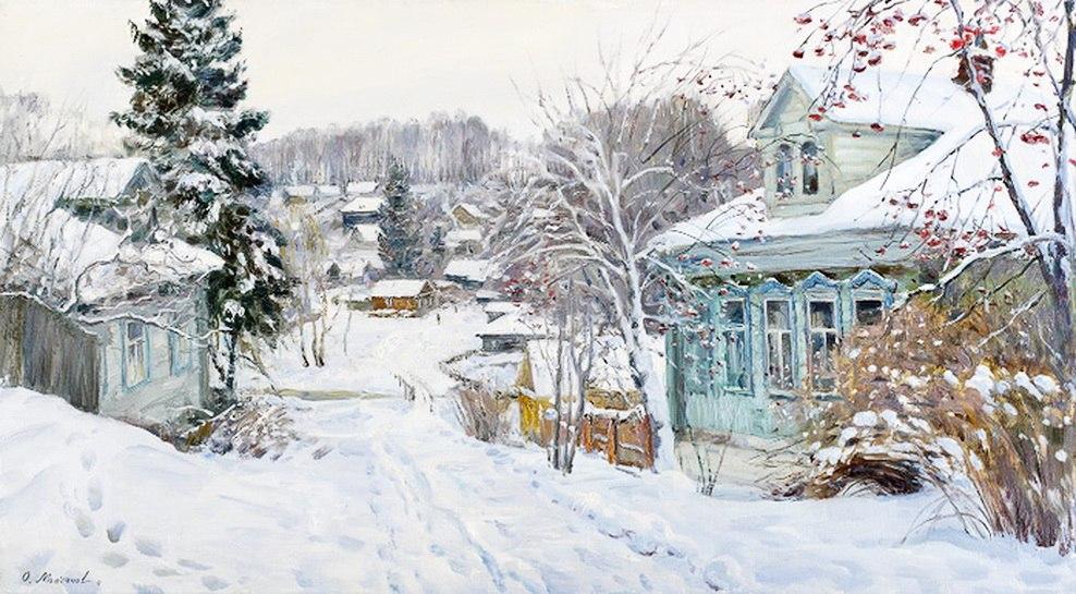 Русская зима в работах художника Олега Молчанова 05