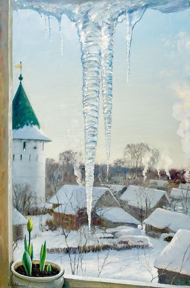 Русская зима в работах художника Олега Молчанова 06