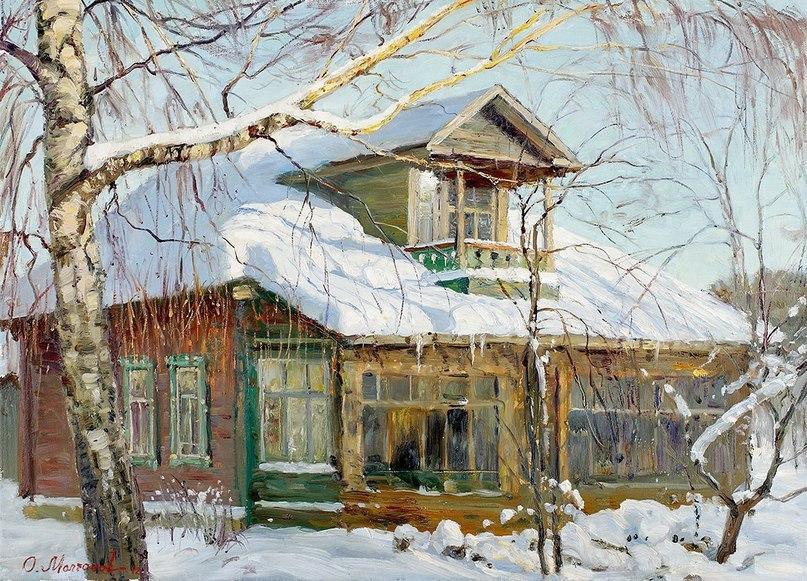 Русская зима в работах художника Олега Молчанова 08