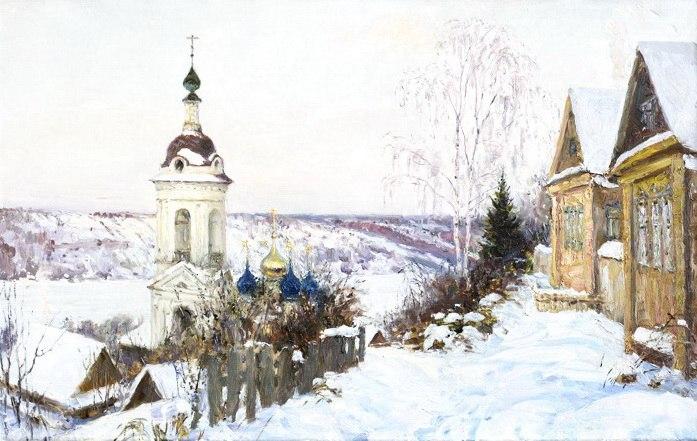 Русская зима в работах художника Олега Молчанова 09