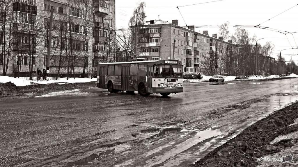 Фотосессия для ковровского троллейбуса