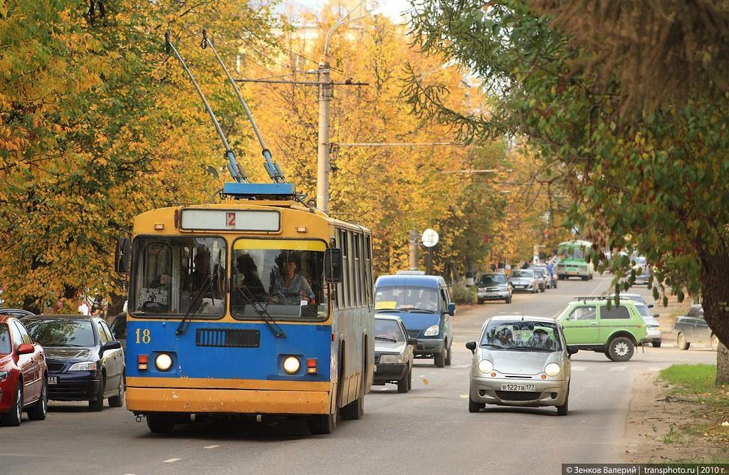 Яркий осенний ковровский троллейбус. Автор - Зенков Валерий