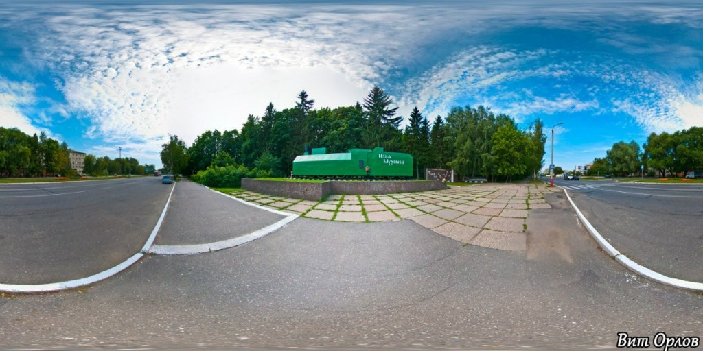 Бронепоезд Илья Муромец на Владимирской шоссе. Фотограф — Виталий Орлов