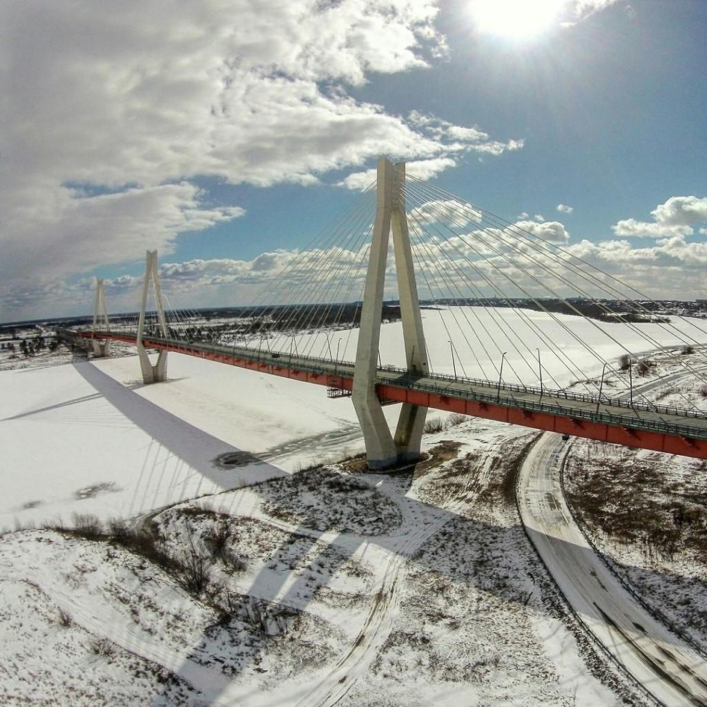 Муромский мост с высоты, март 2016