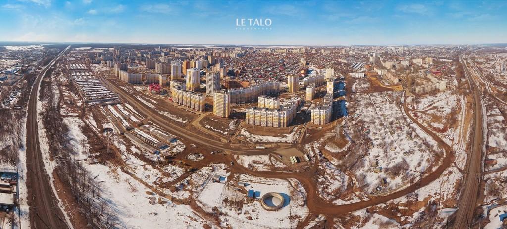 Панорама новых жилых районов на Юго-Западе Владимира
