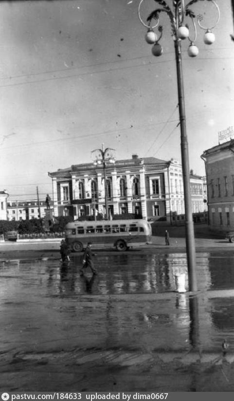 Площадь Свободы после дождя 1957, Россия, Владимирская область, Владимир