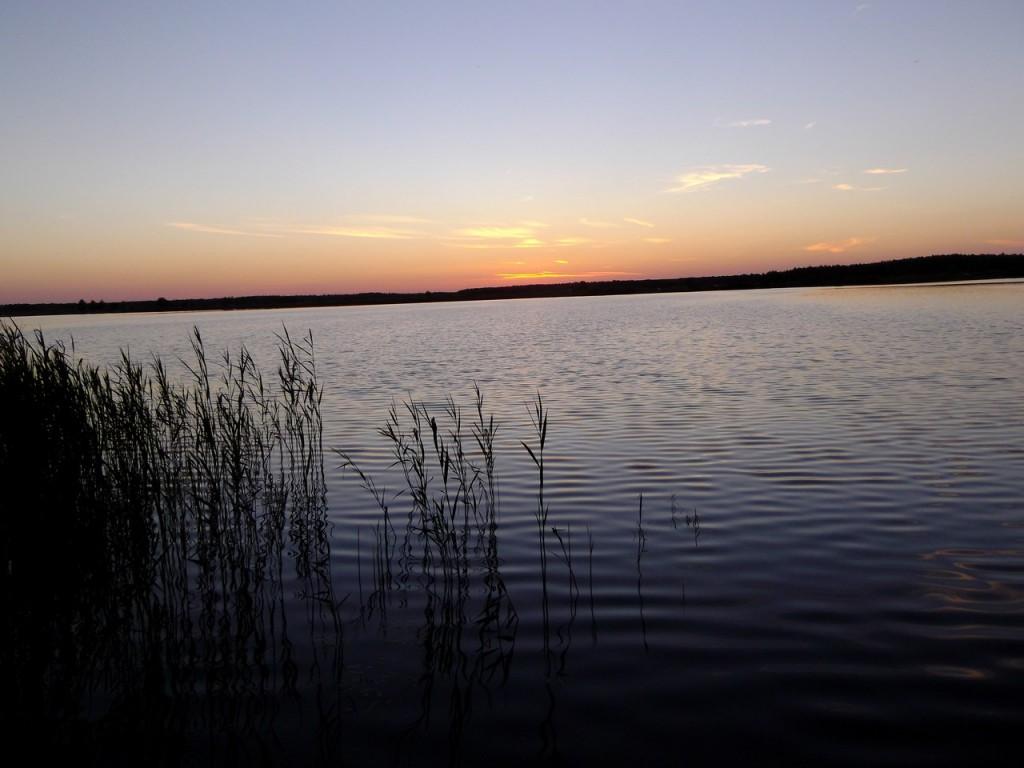 Прекрасный закат на о. Брызгуново, Собинский район 01