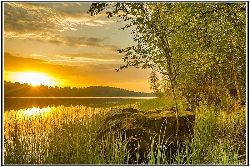 Рассвет на Белом море, дождь над озером Куйто, рассвет на Ладоге 03