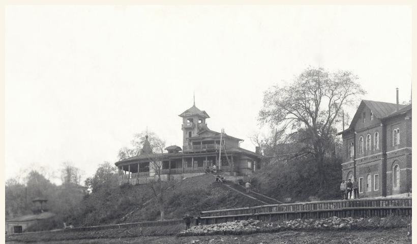 Смотровая площадка Окского парка. 1928 г. (из архива Муромского музея)