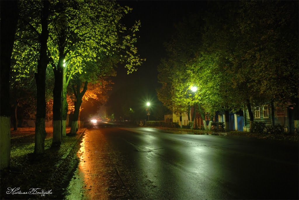 Улица Ленина в Суздале ночью