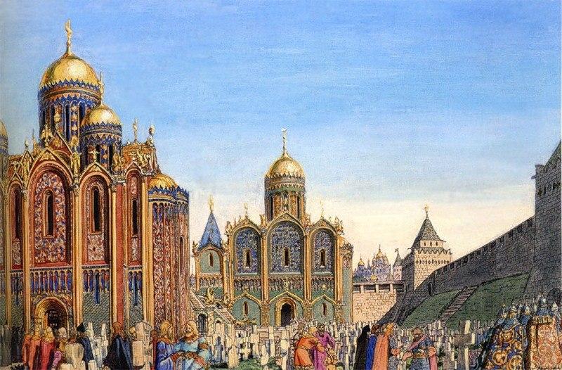 Успенский и Дмитровский соборы детинца в конце XII века