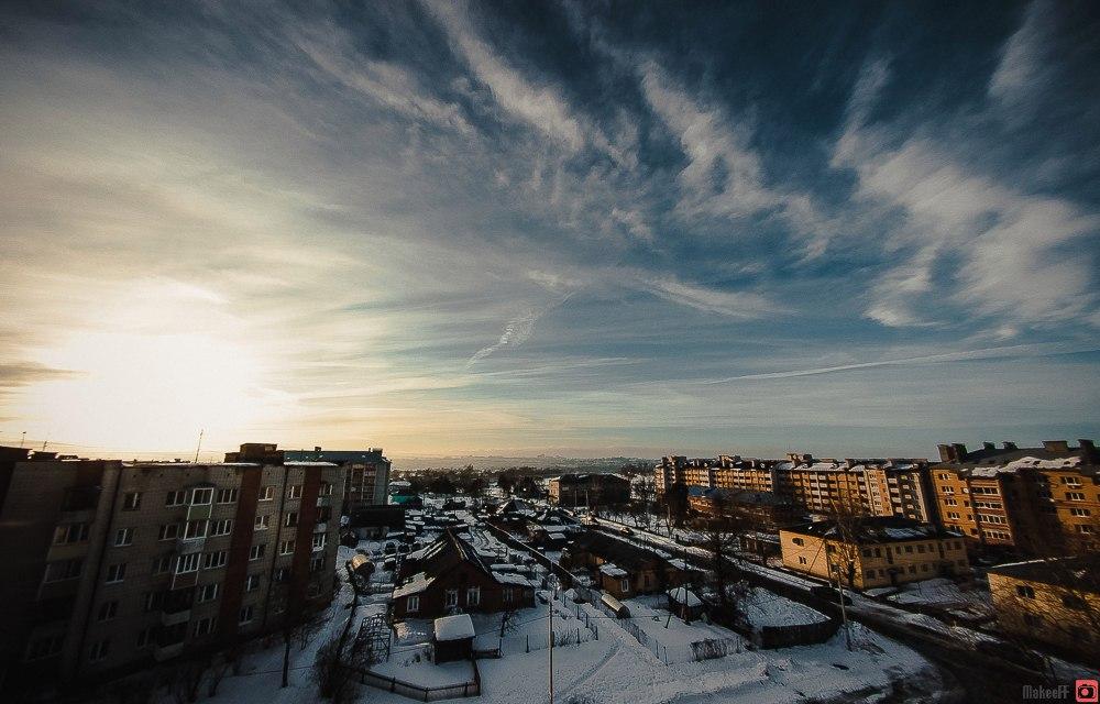 Февраль. Владимир. Городской пейзаж
