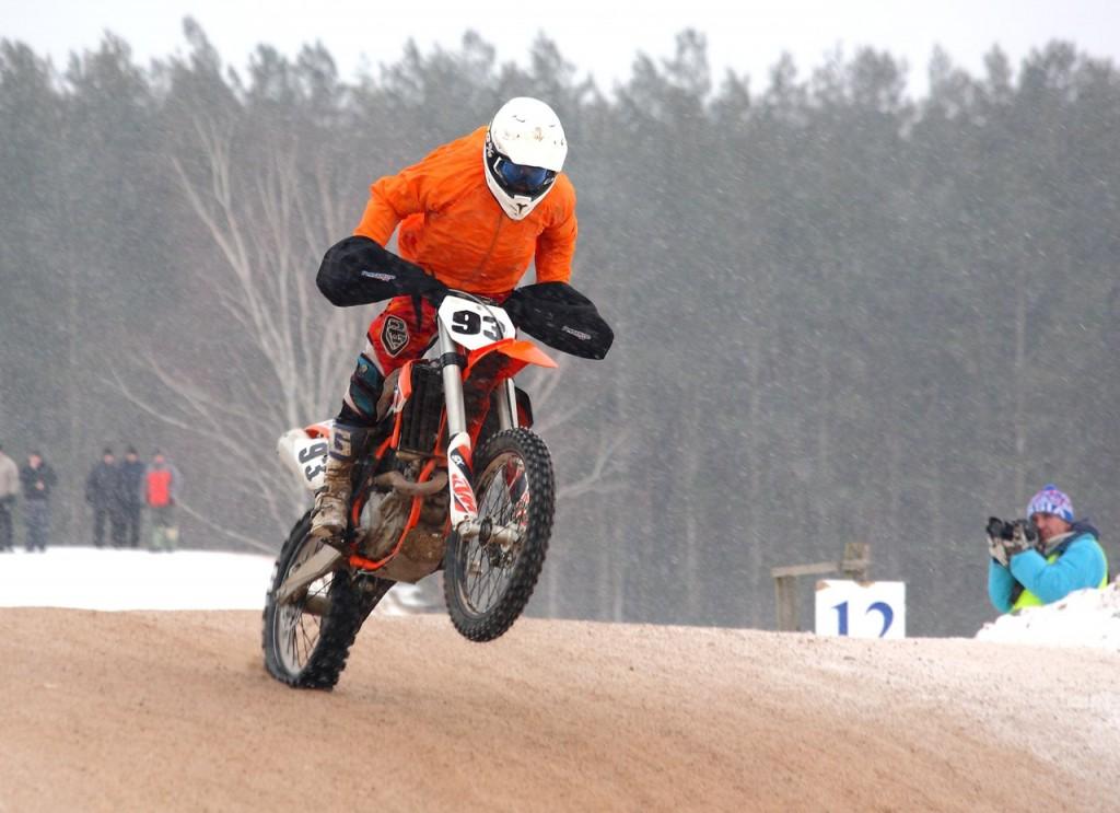 Чемпионат по зимнему мотокроссу в Коврове (22 февраля 2016) 03