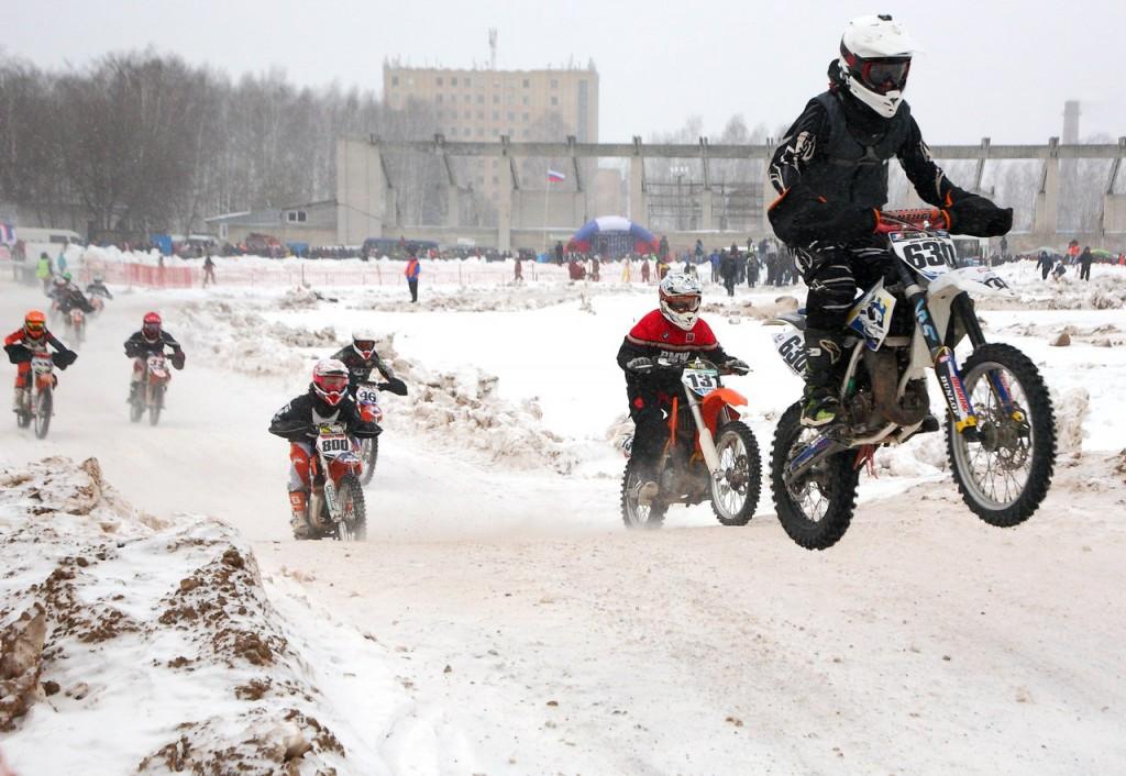 Чемпионат по зимнему мотокроссу в Коврове (22 февраля 2016) 04