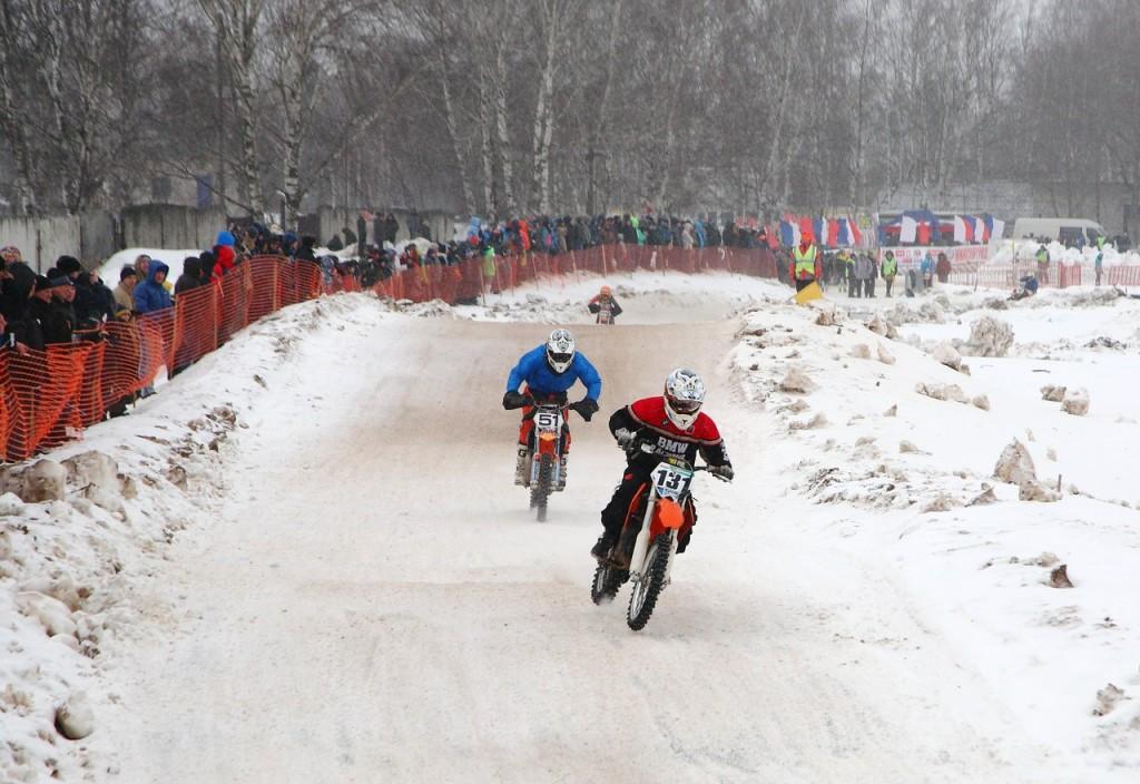 Чемпионат по зимнему мотокроссу в Коврове (22 февраля 2016) 05