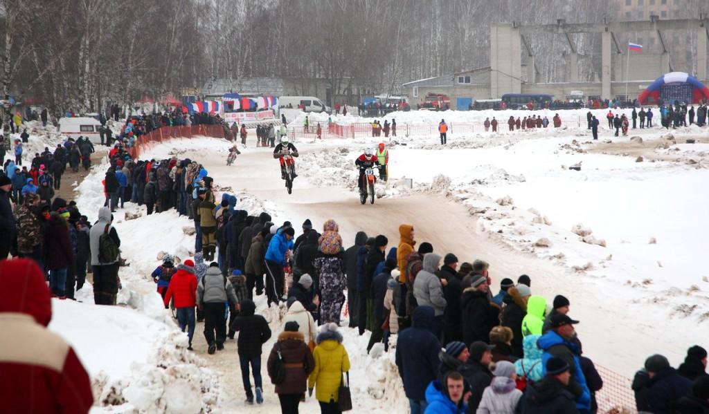 Чемпионат по зимнему мотокроссу в Коврове (22 февраля 2016) 06
