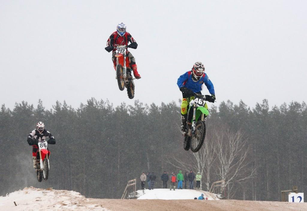Чемпионат по зимнему мотокроссу в Коврове (22 февраля 2016) 08