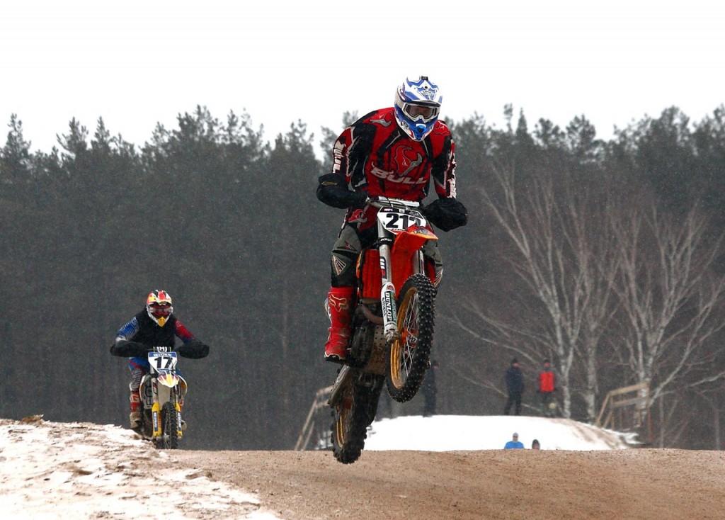 Чемпионат по зимнему мотокроссу в Коврове (22 февраля 2016) 09