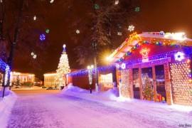 Ярмарочные домики во Владимире в Новый Год