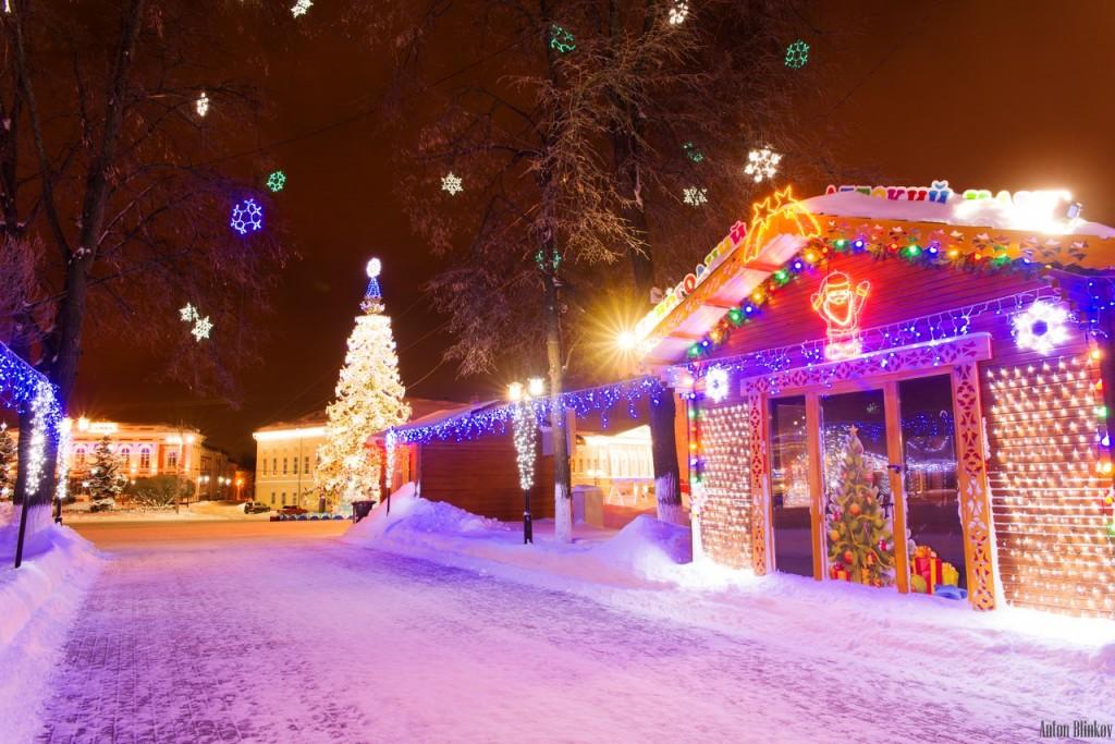 Ярмарочные домики во Владимире в Новый Год 01