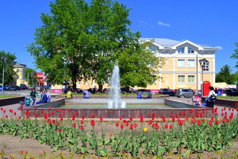 Весна. Площадь Победы в Муроме 05