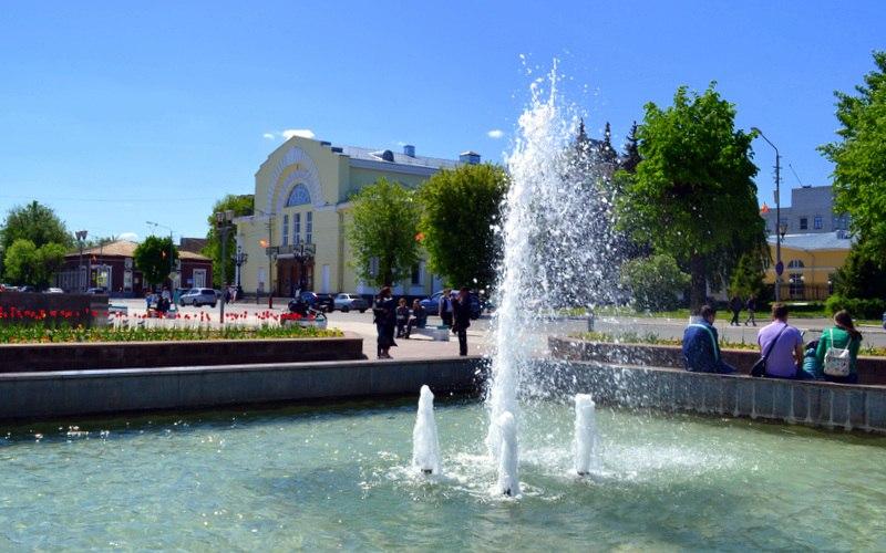 Весна. Площадь Победы в Муроме 06