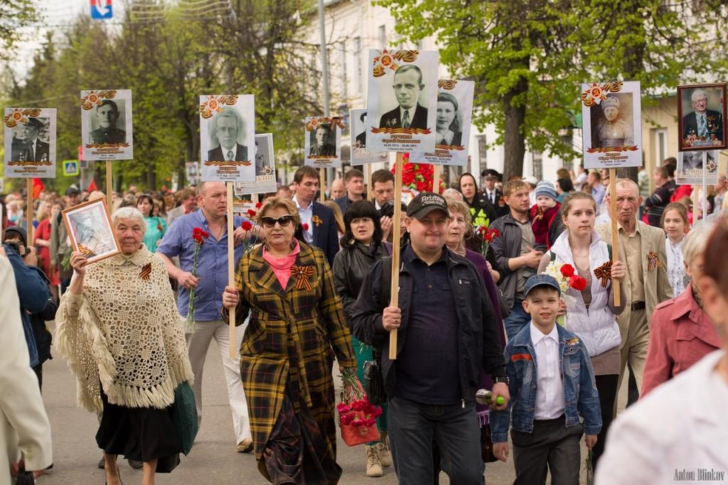 Возложение цветов ко дню Победы в г. Гусь-Хрустальный 08