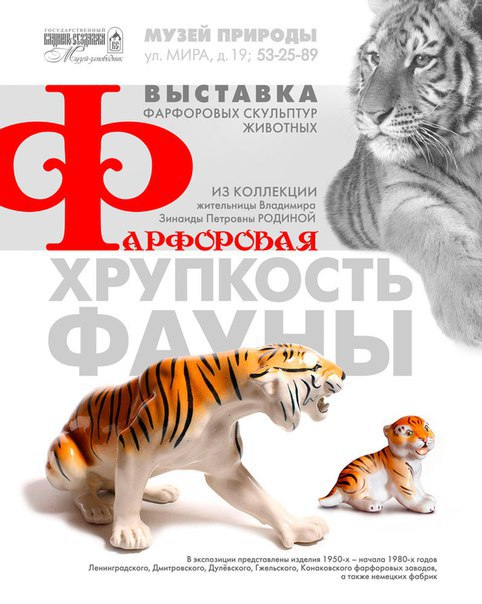 Выставка «Фарфоровая хрупкость фауны» в музее природы 00