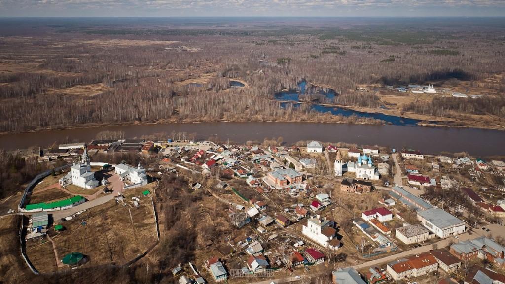 Города и села Владимирской области с высоты - Гороховец
