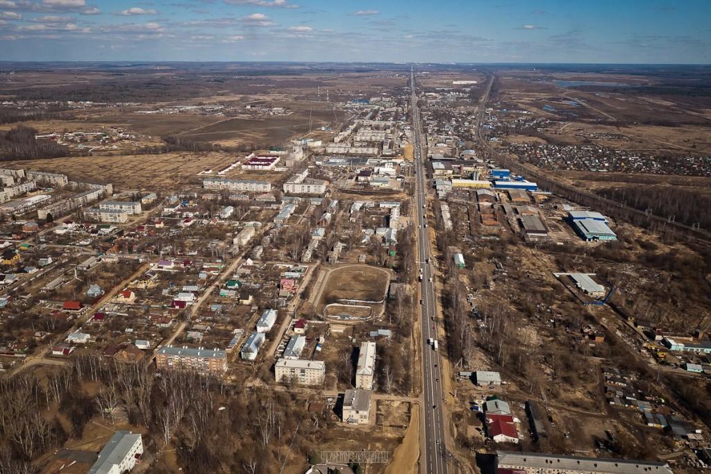 Города и села Владимирской области с высоты - Лакинск