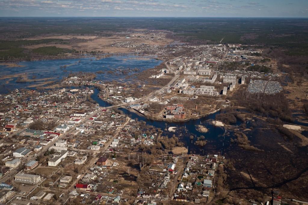Города и села Владимирской области с высоты - Судогда