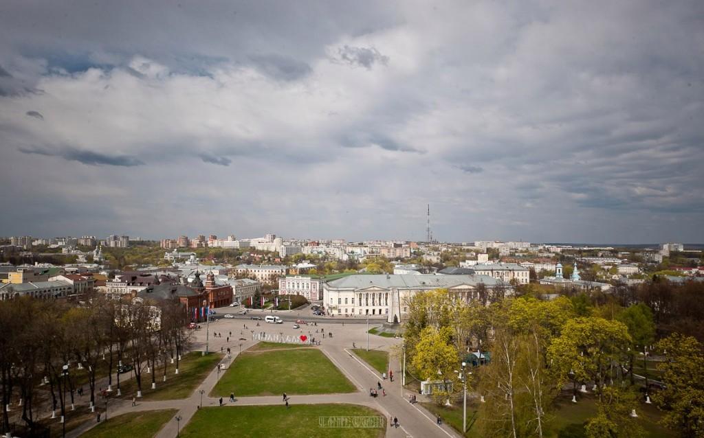 Город Владимир Вид с колокольни на 1 мая 01