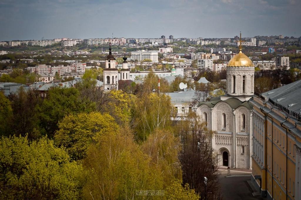 Город Владимир Вид с колокольни на 1 мая 02
