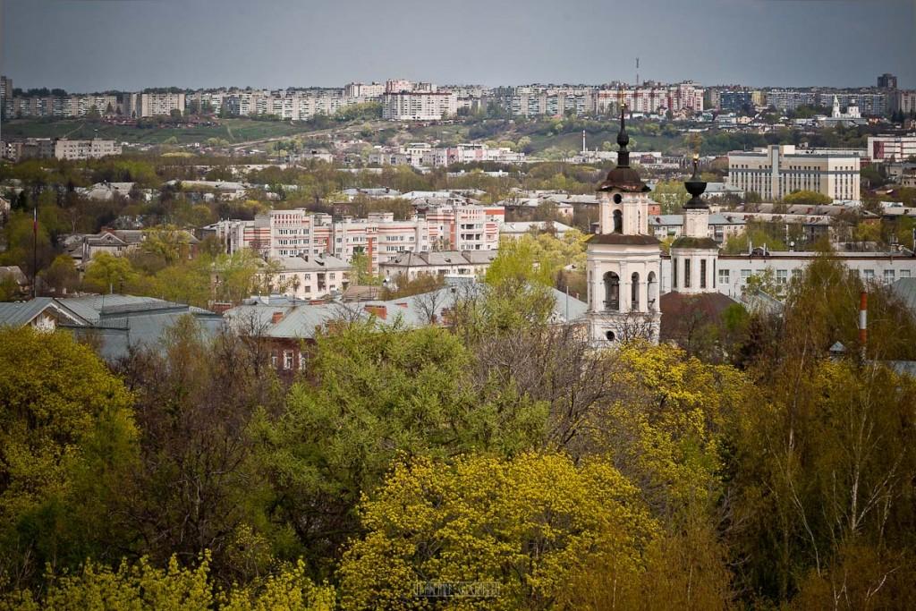 Город Владимир Вид с колокольни на 1 мая 04