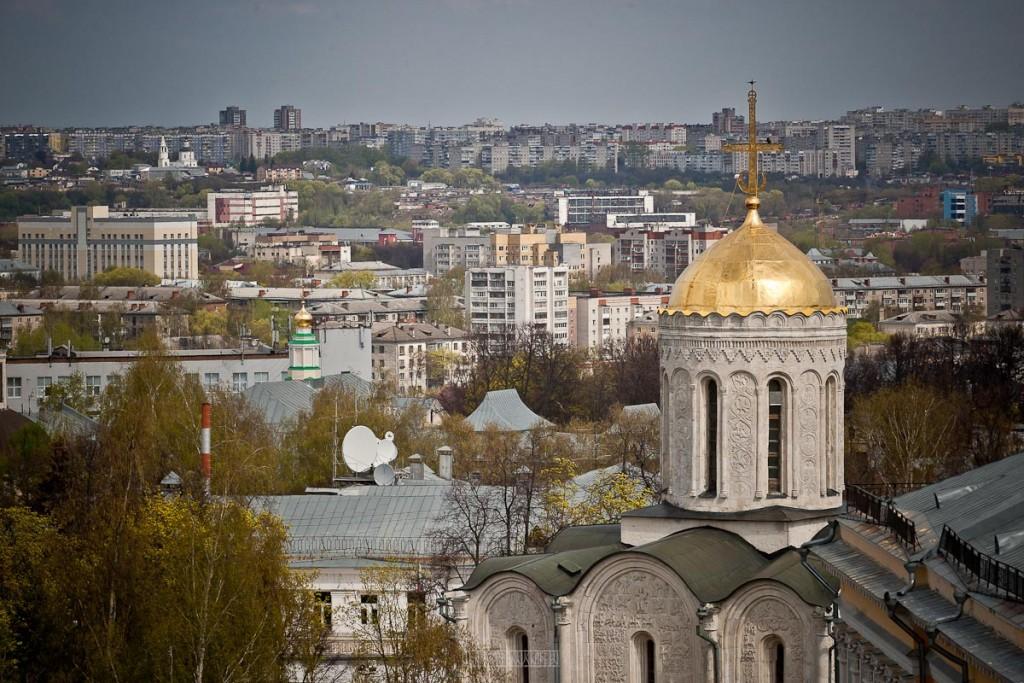 Город Владимир Вид с колокольни на 1 мая 05
